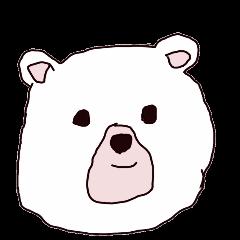 Polar bear is sometimes hungry.