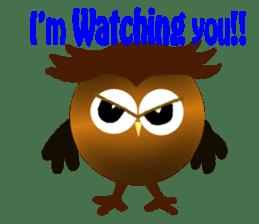 Owl in Town sticker #6314560