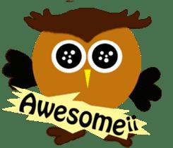 Owl in Town sticker #6314561