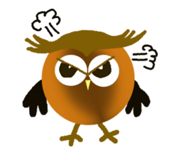 Owl in Town sticker #6314562