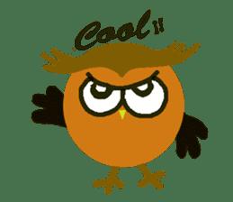 Owl in Town sticker #6314563