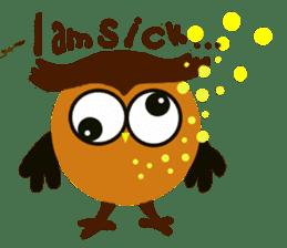 Owl in Town sticker #6314565