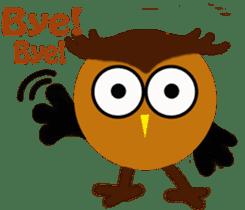 Owl in Town sticker #6314566