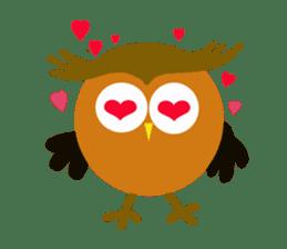 Owl in Town sticker #6314568