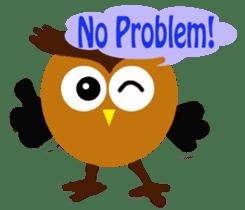 Owl in Town sticker #6314569