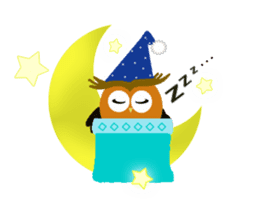 Owl in Town sticker #6314576