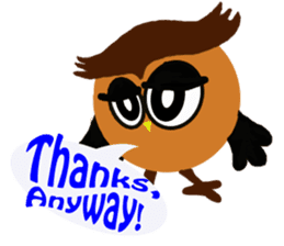 Owl in Town sticker #6314577