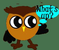 Owl in Town sticker #6314580