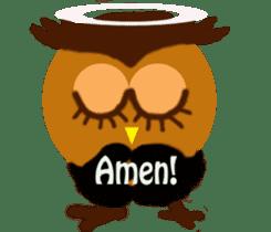 Owl in Town sticker #6314585