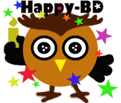 Owl in Town sticker #6314587