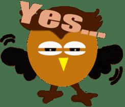 Owl in Town sticker #6314588