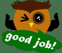 Owl in Town sticker #6314595