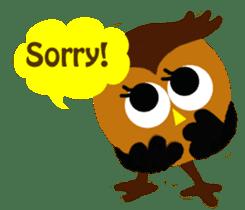 Owl in Town sticker #6314598