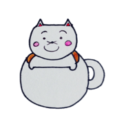 สติ๊กเกอร์ไลน์ Lines of cat cup