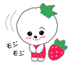 Bichon Frise of Kansai dialect sticker #6328570