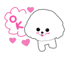 Bichon Frise of Kansai dialect sticker #6328581