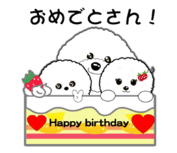 Bichon Frise of Kansai dialect sticker #6328583