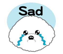 Bichon Frise of Kansai dialect sticker #6328599