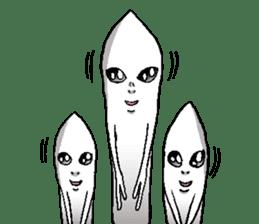 The Alien born in the Earth sticker #6329046