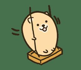 very cute egg dog sticker #6330974