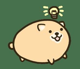 very cute egg dog sticker #6330983