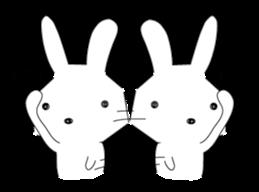A rabbit is in love 2 sticker #6332011