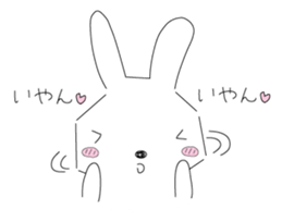 A rabbit is in love 2 sticker #6332013