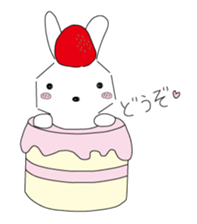 A rabbit is in love 2 sticker #6332017