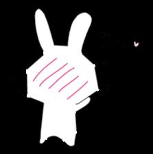 A rabbit is in love 2 sticker #6332031