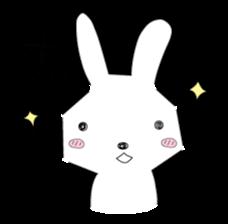 A rabbit is in love 2 sticker #6332032
