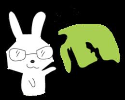 A rabbit is in love 2 sticker #6332037