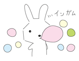 A rabbit is in love 2 sticker #6332038