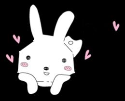A rabbit is in love 2 sticker #6332040