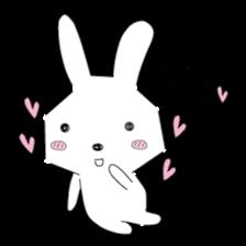 A rabbit is in love 2 sticker #6332042