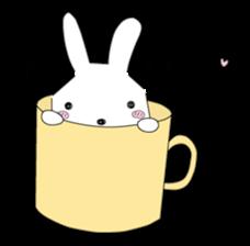 A rabbit is in love 2 sticker #6332047