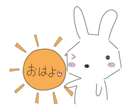A rabbit is in love sticker #6332248