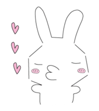 A rabbit is in love sticker #6332254