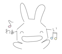 A rabbit is in love sticker #6332259