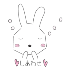 A rabbit is in love sticker #6332260