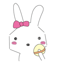 A rabbit is in love sticker #6332261