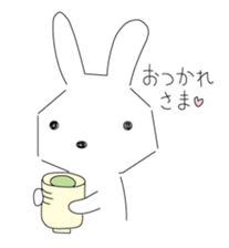 A rabbit is in love sticker #6332262