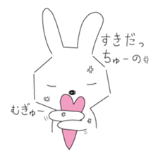 A rabbit is in love sticker #6332275