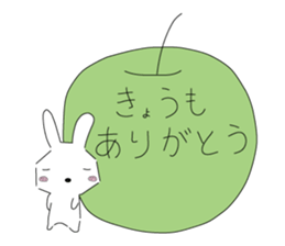 A rabbit is in love sticker #6332277