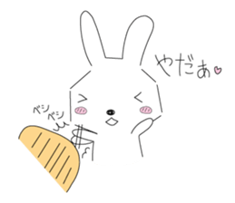 A rabbit is in love sticker #6332280