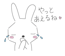 A rabbit is in love sticker #6332282