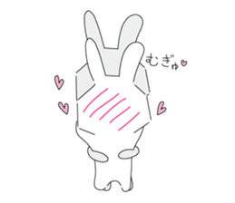A rabbit is in love sticker #6332285