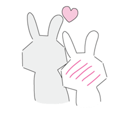 A rabbit is in love sticker #6332286