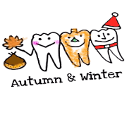 สติ๊กเกอร์ไลน์ teeth everyday4 Autumn&Winter version