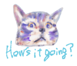 Watercolor of dog and cat sticker #6341688
