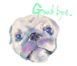 Watercolor of dog and cat sticker #6341691